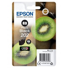 Epson Kiwi Singlepack Photo Black 202 Claria Premium Ink