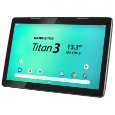 "Hannspree HANNSpad SN14TP1B2AS04 tablet 33,8 cm (13.3"") Rockchip 2 GB 16 GB Wi-Fi 4 (802.11n) Nero Android 9.0"